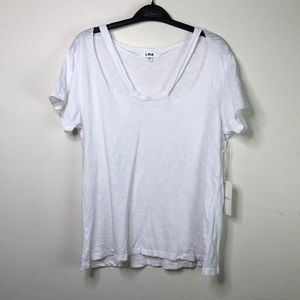 3/$45 LNA Twice cut out tank T-shirt